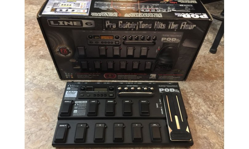 POD XT Line 6 Live Multi Effects Guitar Effect Floor Pedal Процесор гітарний